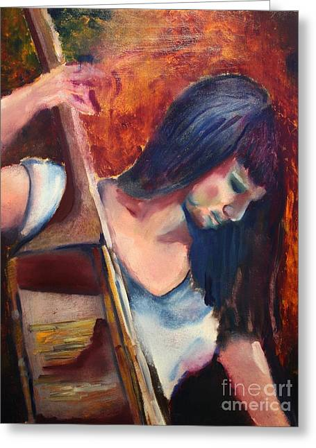 Michael Kulick Greeting Cards - The Musician Greeting Card by Michael Kulick