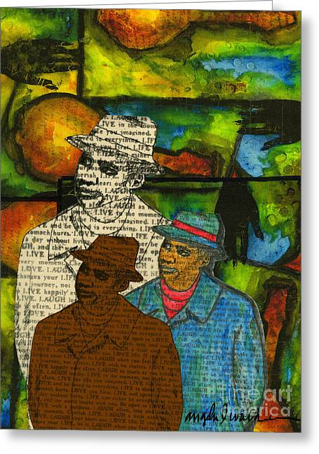 Survivor Art Greeting Cards - The Musician  Mind-Body-SOUL Greeting Card by Angela L Walker