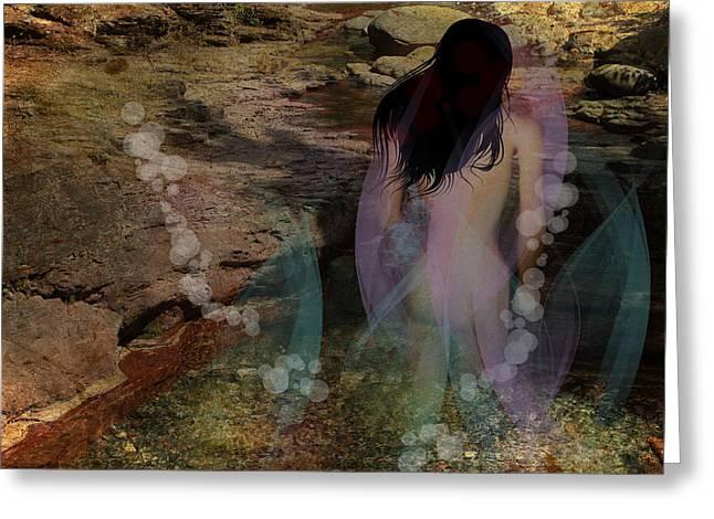 Emergence Digital Art Greeting Cards - The Mystic Pool Greeting Card by Terry Fleckney