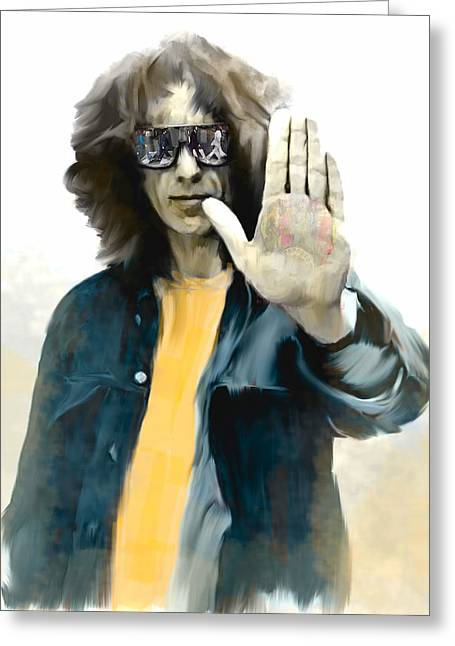 George Harrison Images Greeting Cards - The Mystical One George Harrison Greeting Card by Iconic Images Art Gallery David Pucciarelli