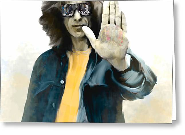George Harrison Images Greeting Cards - The Mystical One II George Harrison Greeting Card by Iconic Images Art Gallery David Pucciarelli