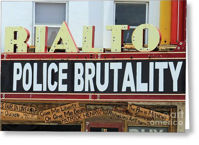 Brutality Greeting Cards - The Naked Truth Greeting Card by Joe Jake Pratt