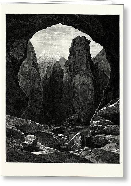 The Narrows, North Fork Of The Rio Virgen Greeting Card by English School