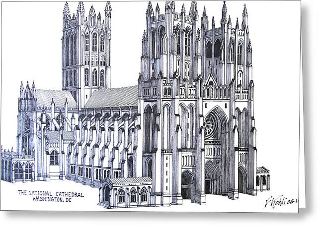 The National Cathedral Greeting Card by Frederic Kohli