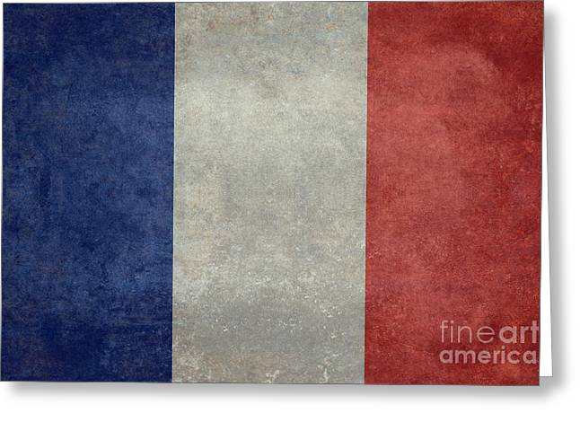 French Greeting Cards - The National Flag of France Greeting Card by Bruce Stanfield