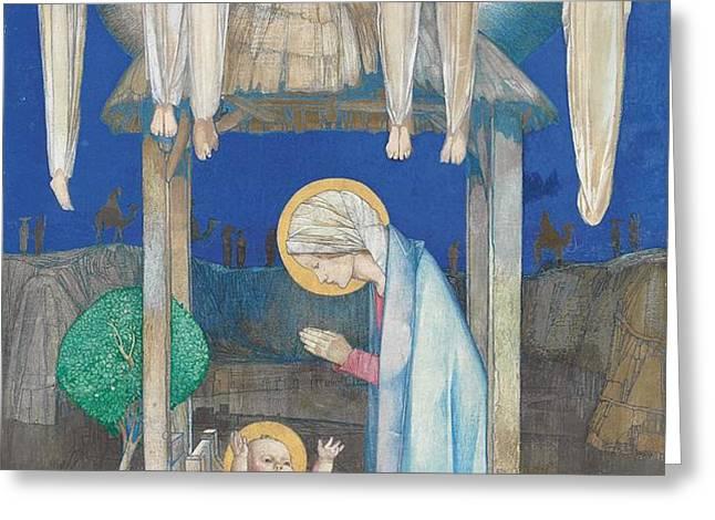 The Nativity Greeting Card by Edward Reginald Frampton