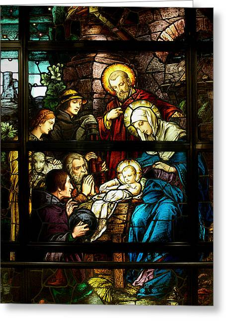 Old Masters Greeting Cards - The Nativity Greeting Card by Celestial Images