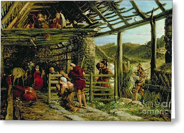 The Nativity Greeting Card by William Bell Scott