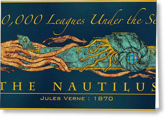 1870 Mixed Media Greeting Cards - The Nautilus Greeting Card by William Depaula