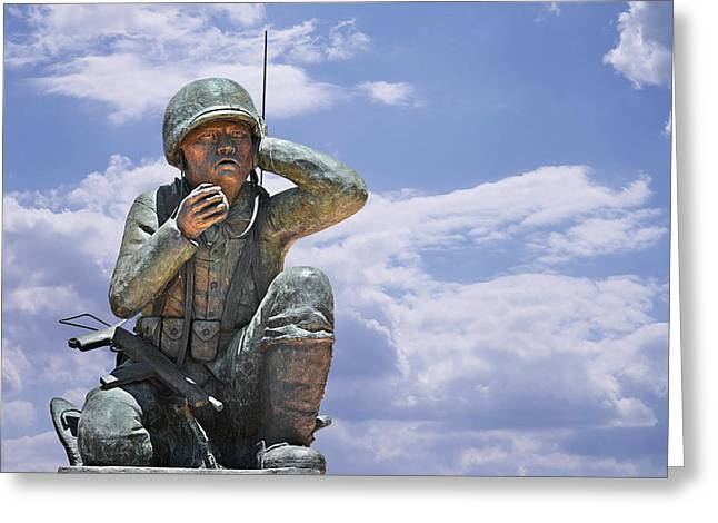 Messenger Greeting Cards - The Navajo Code Talkers Greeting Card by Christine Till