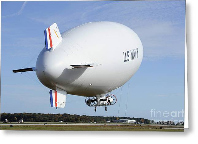 The Navys Mz-3a Manned Airship Lifts Greeting Card by Stocktrek Images
