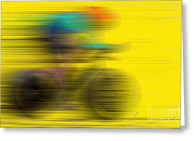 Abstract Movement Greeting Cards - The Need For Speed Greeting Card by Sergio B