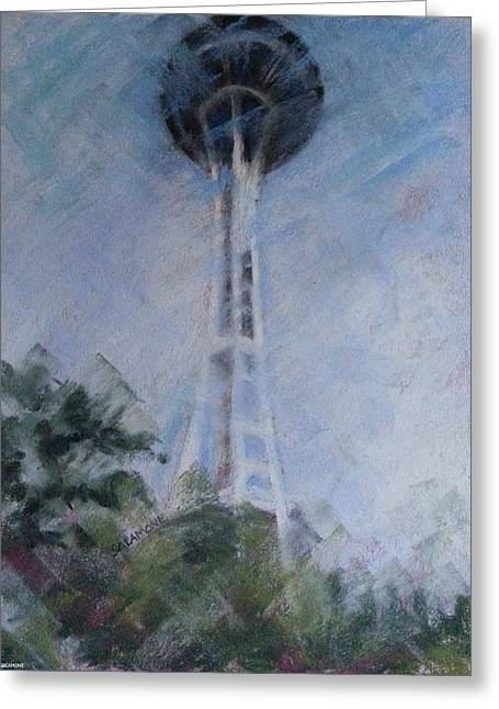 Seattle Pastels Greeting Cards - The Needle Greeting Card by Brenda Salamone