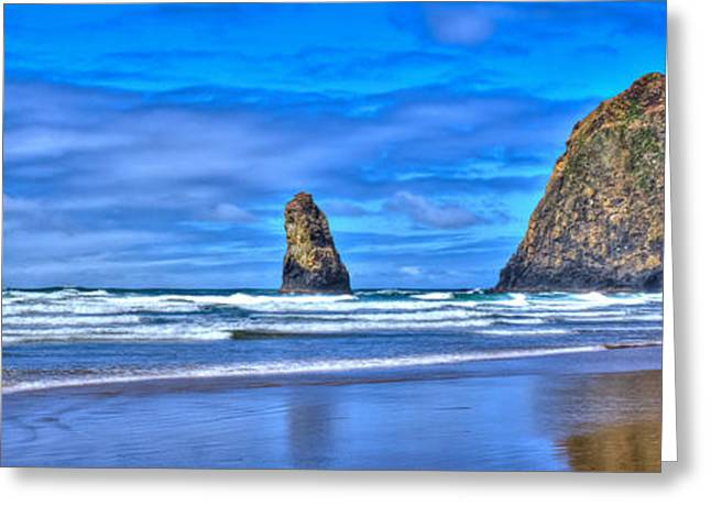 Monolith Greeting Cards - The Needles and Haystack Rock - Cannon Beach Oregon Greeting Card by David Patterson