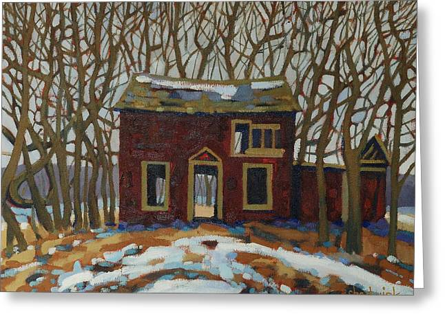 Algonquin Greeting Cards - The Neighbours Greeting Card by Phil Chadwick