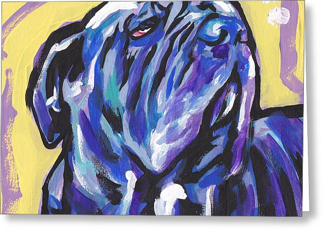 Mastiff Greeting Cards - The Neo Pet Greeting Card by Lea