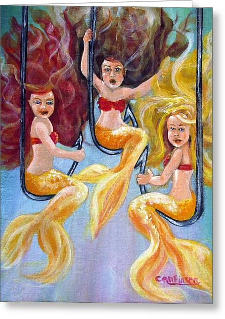 The Neptunes -- Golden Girls Greeting Card by Carol Allen Anfinsen