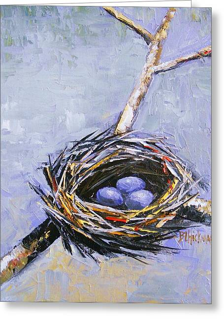 Etc. Paintings Greeting Cards - The Nest Greeting Card by Brandi  Hickman