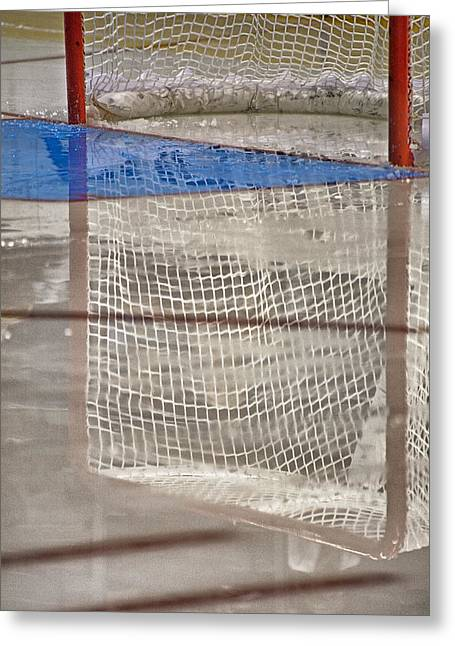 Sports Equipment Greeting Cards - The Net Reflection Greeting Card by Karol  Livote