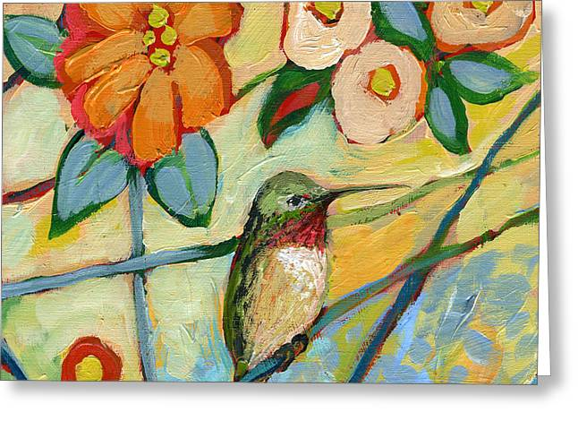 Hummingbirds Greeting Cards - The NeverEnding Story No 6 Greeting Card by Jennifer Lommers