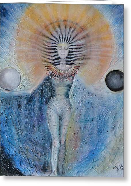 Ying Greeting Cards - The New Balance Greeting Card by Eric Sosnowski Ela Chmielowski