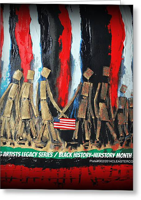 African American History Mixed Media Greeting Cards - The New Great Migration Painting No.2 Greeting Card by Cleaster Cotton