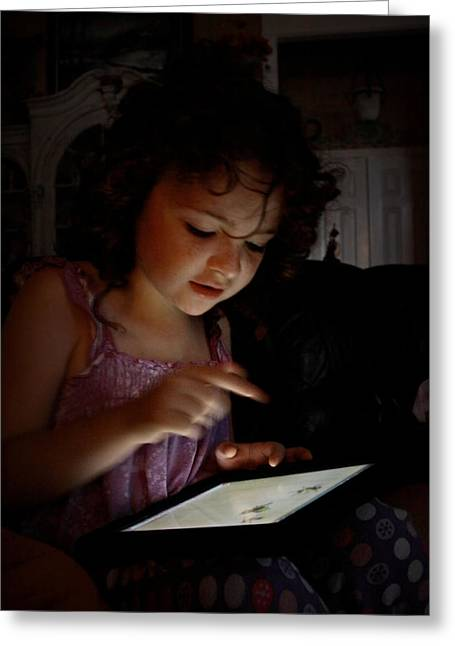 Soft Light Digital Art Greeting Cards - The New Ipad Greeting Card by Linda Unger
