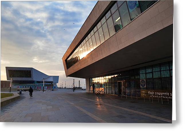 Contemporary Photography Greeting Cards - The New Pier Head Ferry Terminal Greeting Card by Panoramic Images
