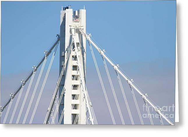 Yerba Beuna Island Greeting Cards - The New San Francisco Oakland Bay Bridge 7D25481 Greeting Card by Wingsdomain Art and Photography