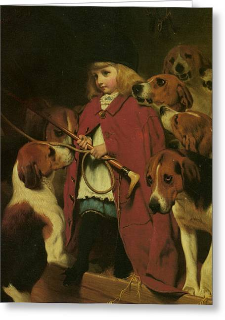 Burton Greeting Cards - The New Whip Greeting Card by Charles Burton Barber