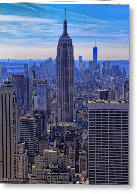 New Mind Greeting Cards - The New York City Skyline Greeting Card by Dan Sproul