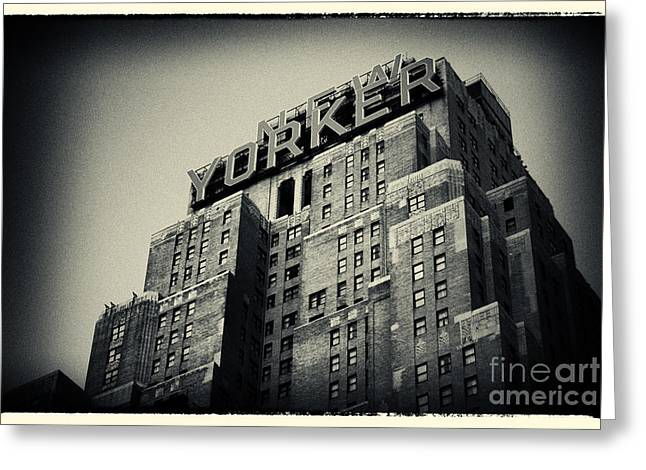 Filmnoir Greeting Cards - The New Yorker Hotel New York City Greeting Card by Sabine Jacobs