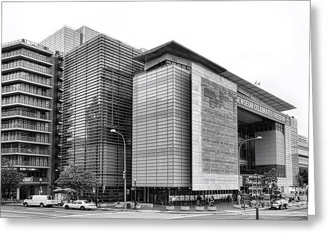 The Newseum Greeting Card by Olivier Le Queinec