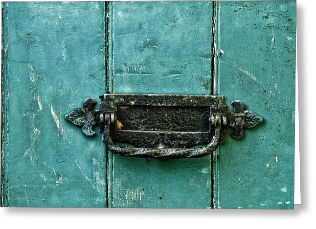 Old Door Greeting Cards - The Nicks Of Time  Greeting Card by Connie Handscomb