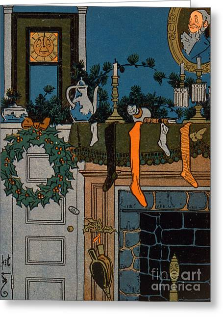 Christmas Eve Greeting Cards - The Night Before Christmas Greeting Card by Denlow