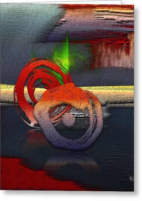Ultra Modern Digital Greeting Cards - The Night is Young... Greeting Card by Serge Averbukh