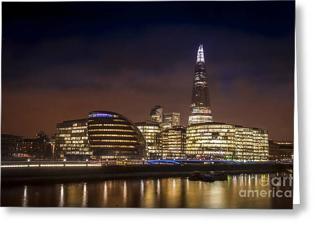 Night Scenes Greeting Cards - The Night Shard Greeting Card by Donald Davis