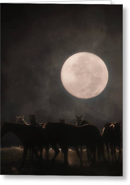 The Night Shift Greeting Card by Ron  McGinnis
