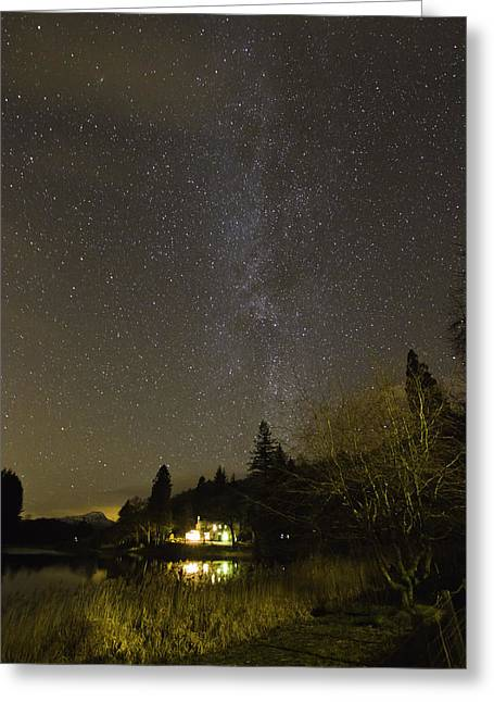 Buster Brown Greeting Cards - The Night Sky above Scotland Greeting Card by Buster Brown