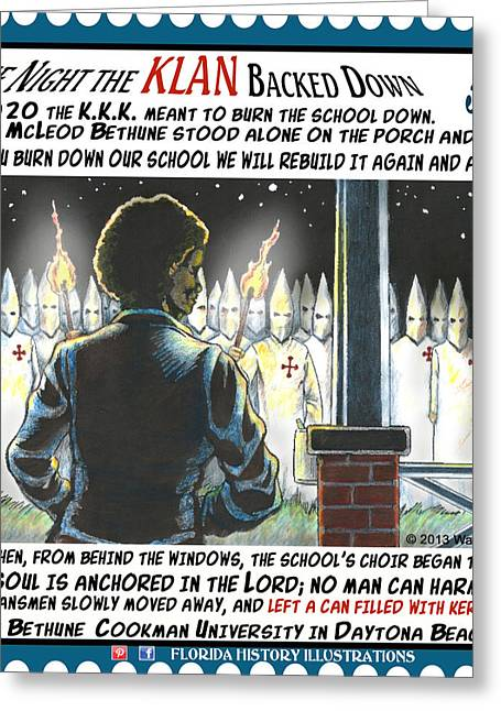 Kkk Greeting Cards - The Night the Klan Backed Down Greeting Card by Warren Clark