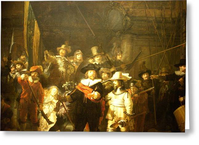 Nightwatch Greeting Cards - The Night Watch Greeting Card by Rembrandt