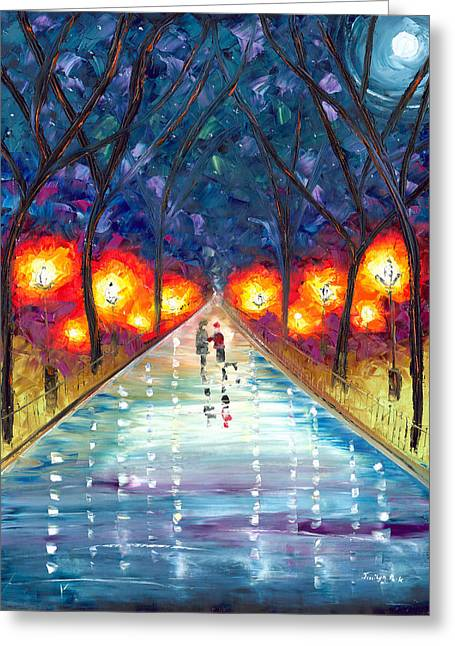 Jessilyn Park Greeting Cards - The Night We Fell In Love Greeting Card by Jessilyn Park