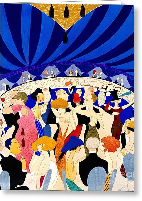 The Nightclub 1921 Greeting Card by Padre Art
