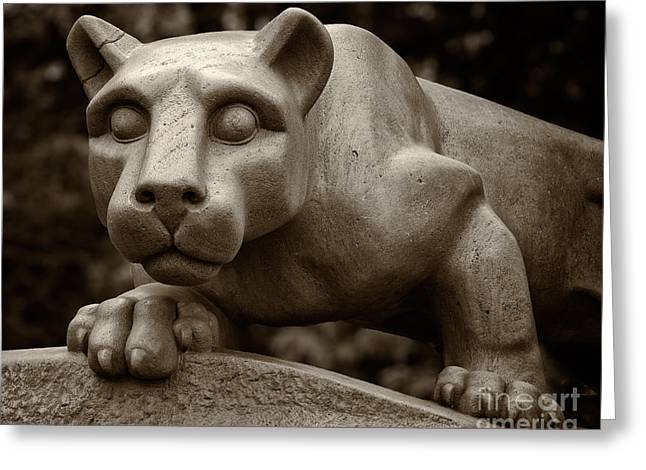 Penn Greeting Cards - The Nittany Lion Shrine Greeting Card by Mark Miller