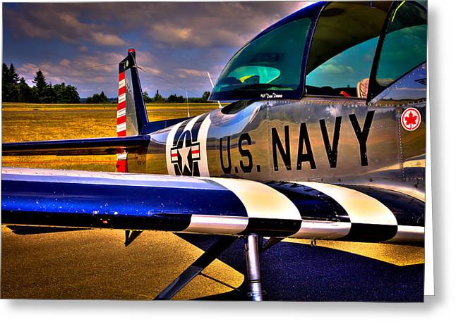 Airplane Prop Greeting Cards - The North American L-17 Navion Aircraft Greeting Card by David Patterson
