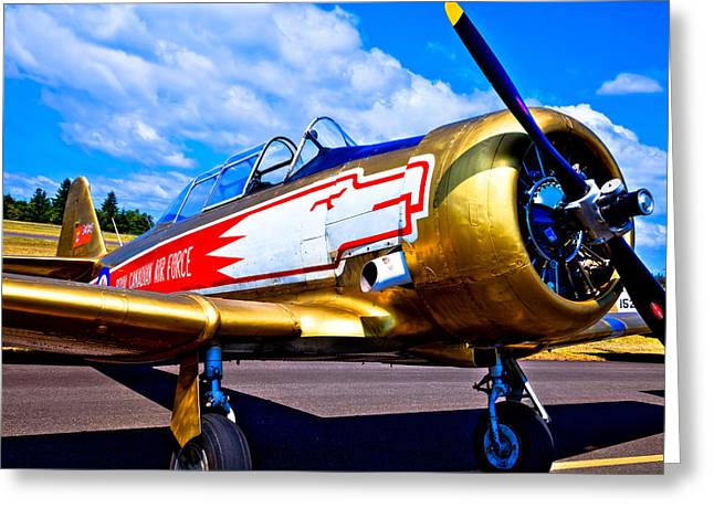 The North Greeting Cards - The North American T-6 Texan Airplane Greeting Card by David Patterson