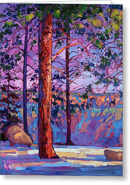 North Rim Greeting Cards - The North Rim Hexaptych - Panel 1 Greeting Card by Erin Hanson