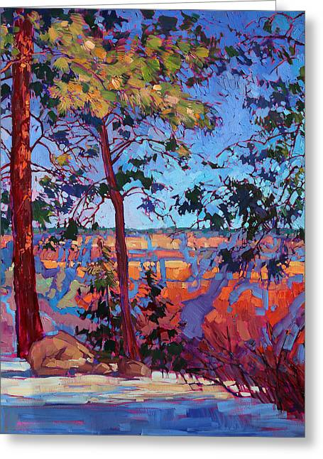 North Rim Greeting Cards - The North Rim Hexaptych - Panel 2 Greeting Card by Erin Hanson
