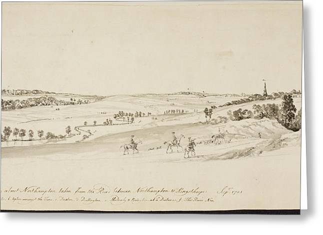 The Northamptonshire Landscape Greeting Card by British Library