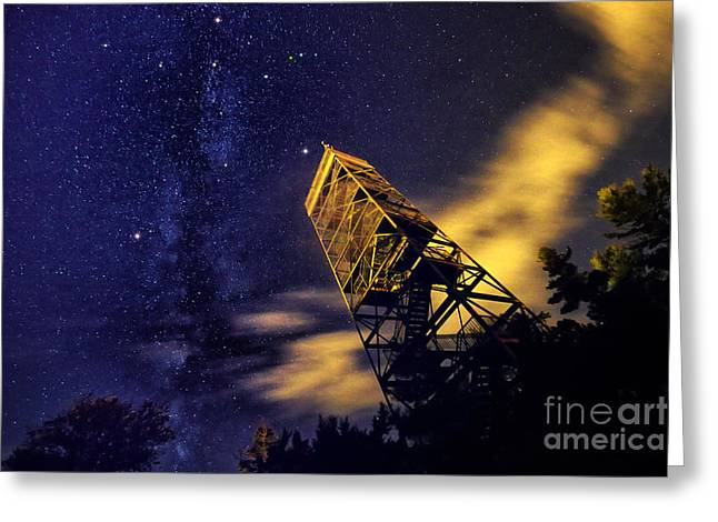 Asterism Greeting Cards - The Northern Cross and Summer Triangle Greeting Card by Charline Xia
